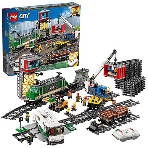 LEGO City 60198 Pociąg towarowy — zabawka dla dzieci