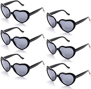 1cb7e5ebb5 Onnea fashion 6 Neon Colors Heart Shape Party Favors Sunglasses, Multi Packs