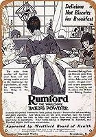 Rumford Baking Powder 金属板ブリキ看板警告サイン注意サイン表示パネル情報サイン金属安全サイン