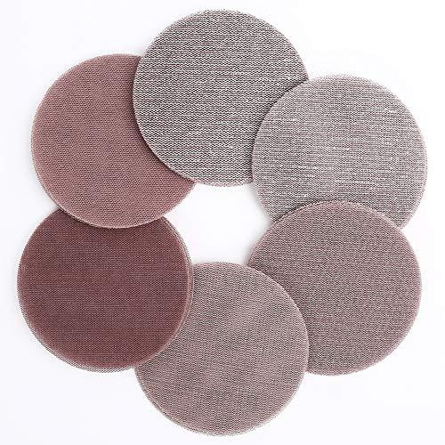 LotFancy 5 Inch Mesh Abrasive Sanding Discs, 30PCS 60 80 120 180 240 320 Grit Dust Free Sandpaper Assortment for Car, Woodworking - Hook and Loop Random Orbital Sander Round Sand Paper