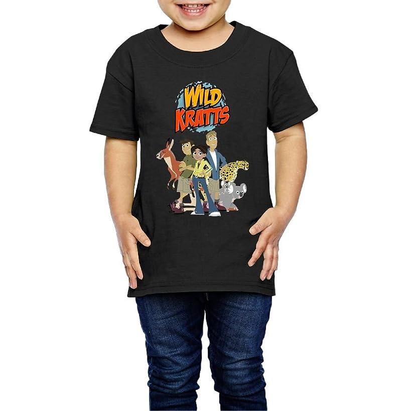 Erin Forman Kids Children Popular Celebrity Short-Sleeve T-Shirt Wild Kratts Logo Black