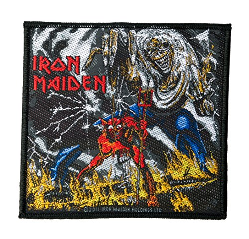 Unbekannt Iron Maiden parche–The Number of the Beast–Iron Maiden Patch–tejida & licencia oficial.