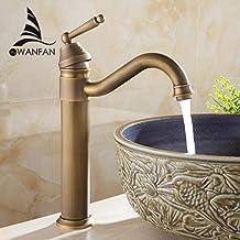 5151BuyWorld waterkraan wastafelarmaturen badkamer antieke afwerking messing waterkraan badkamer-bassin-badkraan-kraan-was...