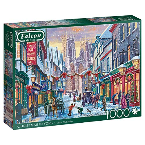 Jumbo 11277 Falcon de Luxe - Christmas in York, 1000-teiliges Puzzle, Mehrfarbig