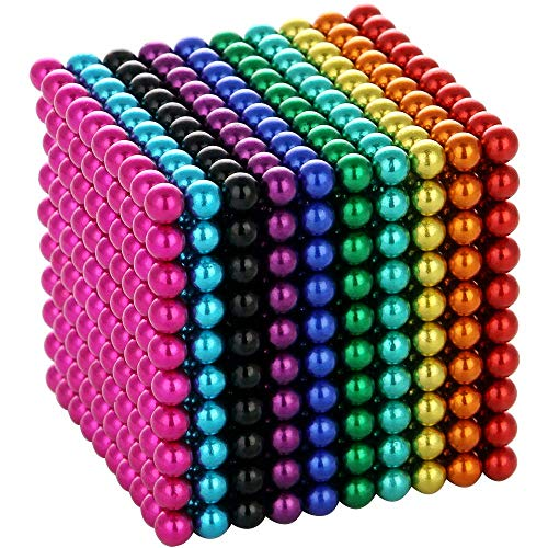 5MM Magnets Sculpture Building Blocks Toys for Intelligence Learning Development Toy, Office Desk Toy & Stress Relief for Adults (1000Pcs 10Colors)
