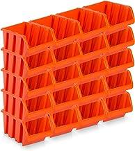 20PIEZA Visión Cajas de almacenamiento tamaño 6–rotbraun (39x 24x 18cm)