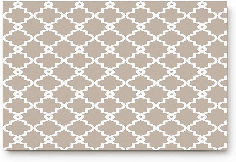 Eelivero Geometric Patterned - Grey 20 x 32 inch Large Doormat Funny Rugs Indoor Kitchen Bathroom Entrance Floor Washable Non Slip Mats