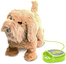 MEVA PawPals Kids Walking and Barking Puppy Dog Toy Pet with Remote Control Leash … (Brown)