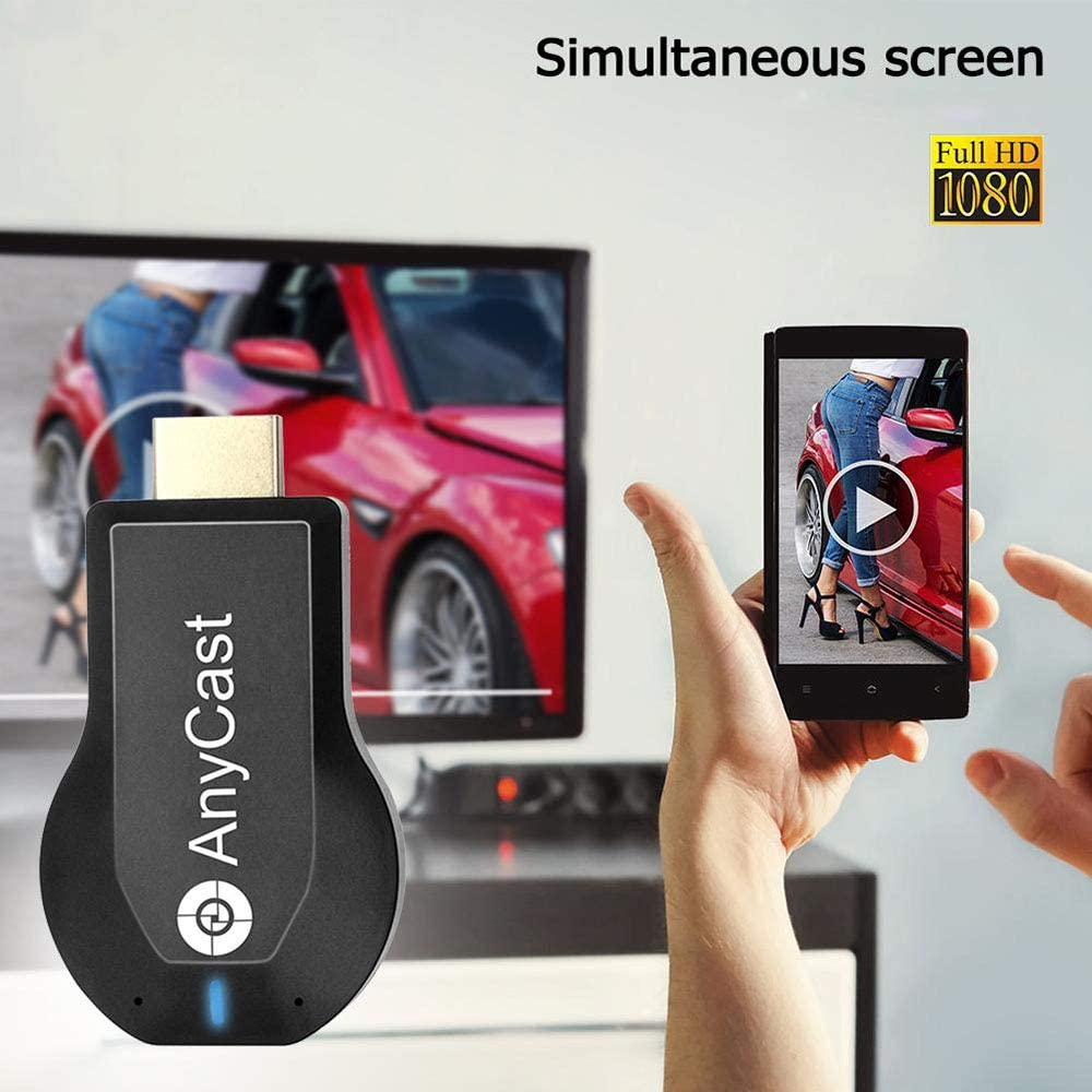Wireless WiFi Display Dongle, 1080p HDMI Miracast Dongle for TV Screen Mirroring Device for iPhone iPad Mac Samsung Android, Business Education Office Birthday Gift