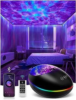 star projector LED ستار ليلة الخفيفة لغرفة النوم، كوة للبالغين أو الأطفال، سقف تضيء مع موجة المحيط، سديم آورورا، 3 في 1 مص...