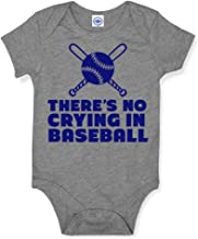 Hank Player U.S.A. No Crying In Baseball Baby Onesie