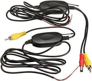 Docoolor 2.4G Wireless Color Video Transmitter & Receiver 1.5M for Car Rear Backup Front View Camera Vehicle Monitors