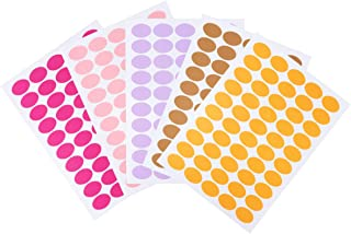 Tomaibaby 8 Sheets Round Coding Circle Dot Sticker Labels A4 Color Dot Label Paper Adhesive Gift Label Decals for Home Off...