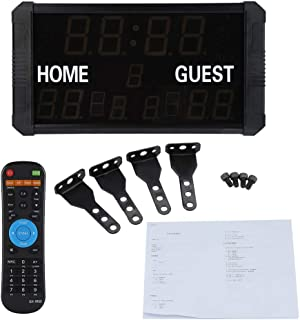 Controlador port/átil de interior//exterior y reproductor de audio Marcador electr/ónico LED Digital Score Keeper EU Plug