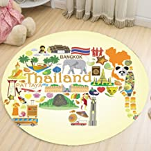 Round Carpet Living Room Sofa Dining Table Balcony Chair Mat Flannel Soft Rug Washable for 60/80/100/120/160Cm,1,80cm