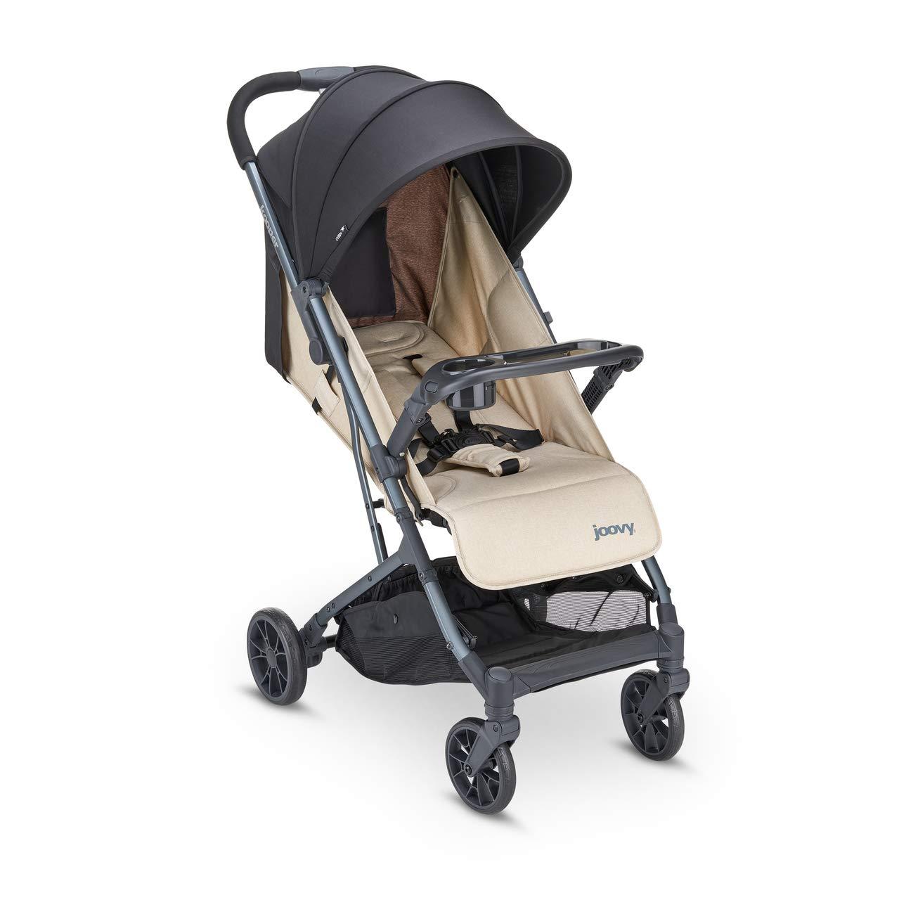 Joovy Kooper Stroller, Lightweight Travel Stroller, Compact Fold with Tray, Sand