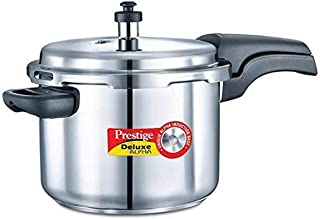 Prestige PEE_20606_SIR Alpha Deluxe Induction Base Pressure Cooker, 6.5 Liters, Stainless Steel