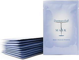 Dermaroller Hyaluronsäure Gesichtsmaske gegen trockene Haut - Spendet Feuchtigkeit, mildert Falten, unterstützt die Kollagenbildung - 1er Pack 1 x 10 Stück
