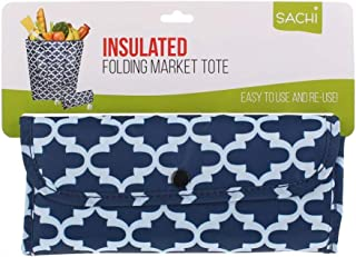 NEW SACHI INSULATED FOLDING MARKET TOTE BAG Shopping Carry Bag 2 DESIGNS
