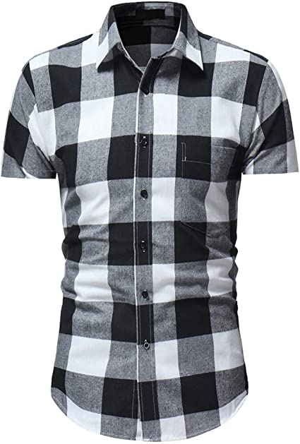Berimaterry Para Hombre Franela Compruebe Camisa Camisa ...