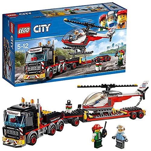 Lego - City Trasportatore Carichi Pesanti, con Due MinifigureRicco di Dettagli Realistici,Set di Costruzioni per Bambini 5-12 Anni, 60183