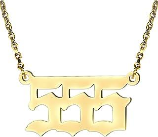 قلادة رقم الملاك 11 222 333 444 الفولاذ المقاوم للصدأ قلادة 55 777 888 999 666 أرقام المجوهرات قلادة رقم