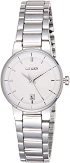 Citizen Women White Dial Stainless Steel Band Watch - EU6010-53A