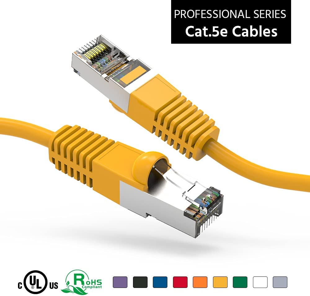 ACCL Ranking integrated 1st Max 60% OFF place 150Ft Cat5E Shielded FTP Cable Ethernet Network Booted Ye