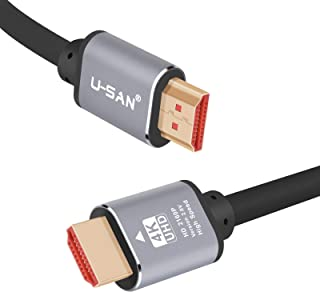 U-Sanny 4K HDMI Cable with Full Metal Connectors,Support 4K@60Hz/ Ultra HD 3D/ 1080p Full HD/Dolby & ARC, 18Gbps High Spee...