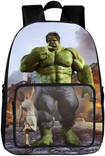 sac à dos Hulk Iron Man Print Comfort Sac à Dos Scolaire Sac à Dos pour Garçons Et Filles pour Enfants Sacs D'école 6-12 Ans Hulk (1)-40  30  16cm