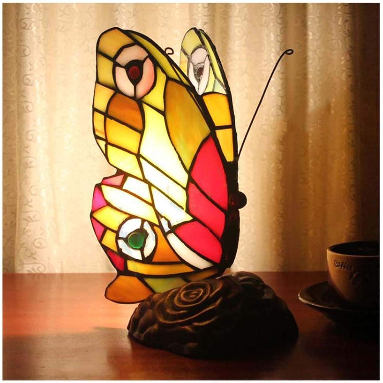 CJW Amerikanische Retro- Schmetterlingstischlampe - StehtischdekorationsBlaumennachtlicht B07PM8DTDL | Mittel Preis