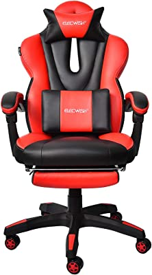 ELECWISH Gaming Office Chair Computer Desk Chair Racing Style High Back Chair Executive and Ergonomic Style