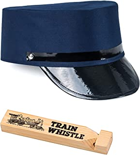 Conductor Costume - Train Driver Costume - Conductor Hat - Train Engineer Costume - (2 Pc Set) Navy Blue
