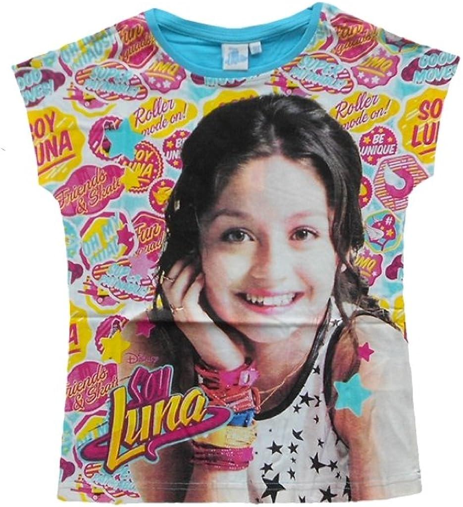 Disney 116 grau SOY LUNA M/ädchen Shirt Top Langarmshirt Oberteil Gr