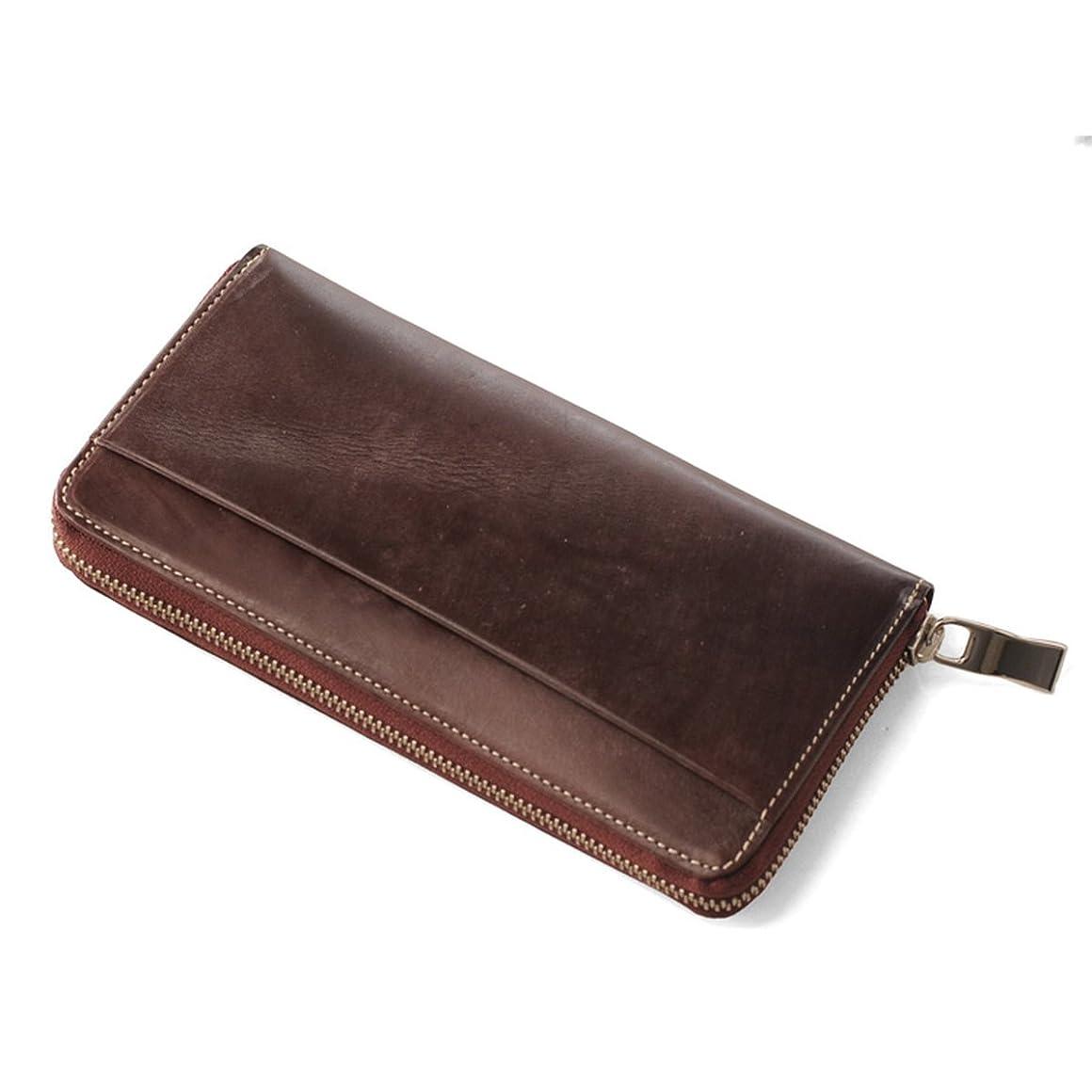 大胆なヤング真鍮[ monte SPIGA ] ブライドル レザー 牛革 本革 メンズ 長財布 ラウンドファスナー イタリア製