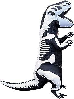 Morph Skeleton Dinosaur T-Rex Inflatable Costume - Slight Colour Run Fault