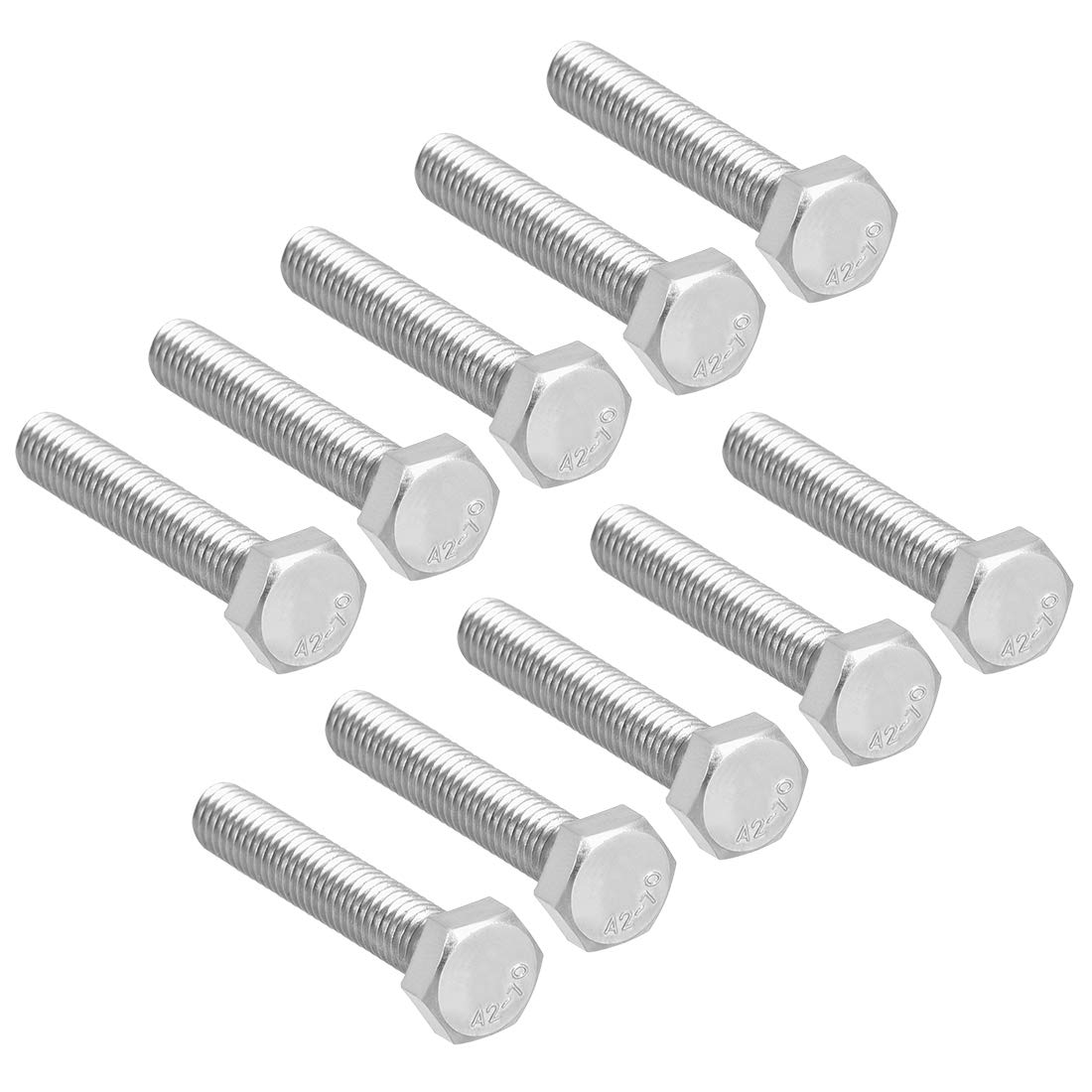 uxcell M6x35mm San Antonio Mall Hex Bolts 304 Steel Bolt Stainless Screw Hexagon Super sale