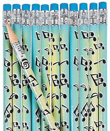 Musical Notes Pencils (2 dozen per unit) 7 1/2'