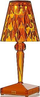 QXXZ Lampe de Table Crystal,LED Tricolore Dimming Lampe de Chevet de Chambre À Coucher,Moderne Créatif Lampe de Bureau Déc...