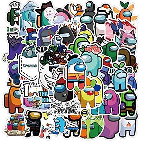 Zzlush Paquete de Etiquetas engomadas Frescas Juego Entre Nosotros Pegatinas 50Pcs del Animado Pegatinas Guitarra Entre Nosotros Etiquetas engomadas Graffiti Equipaje del monopatín Etiquetas a Prueba