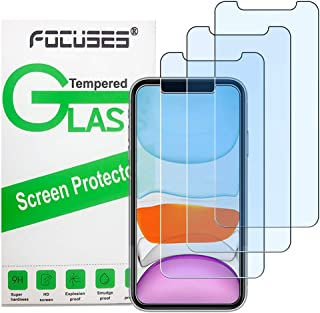 Focuses iPhone 11 Screen Protector, iPhone XR Screen Protector, Anti Blue Light Tempered Glass Film for Apple iPhone XR & ...