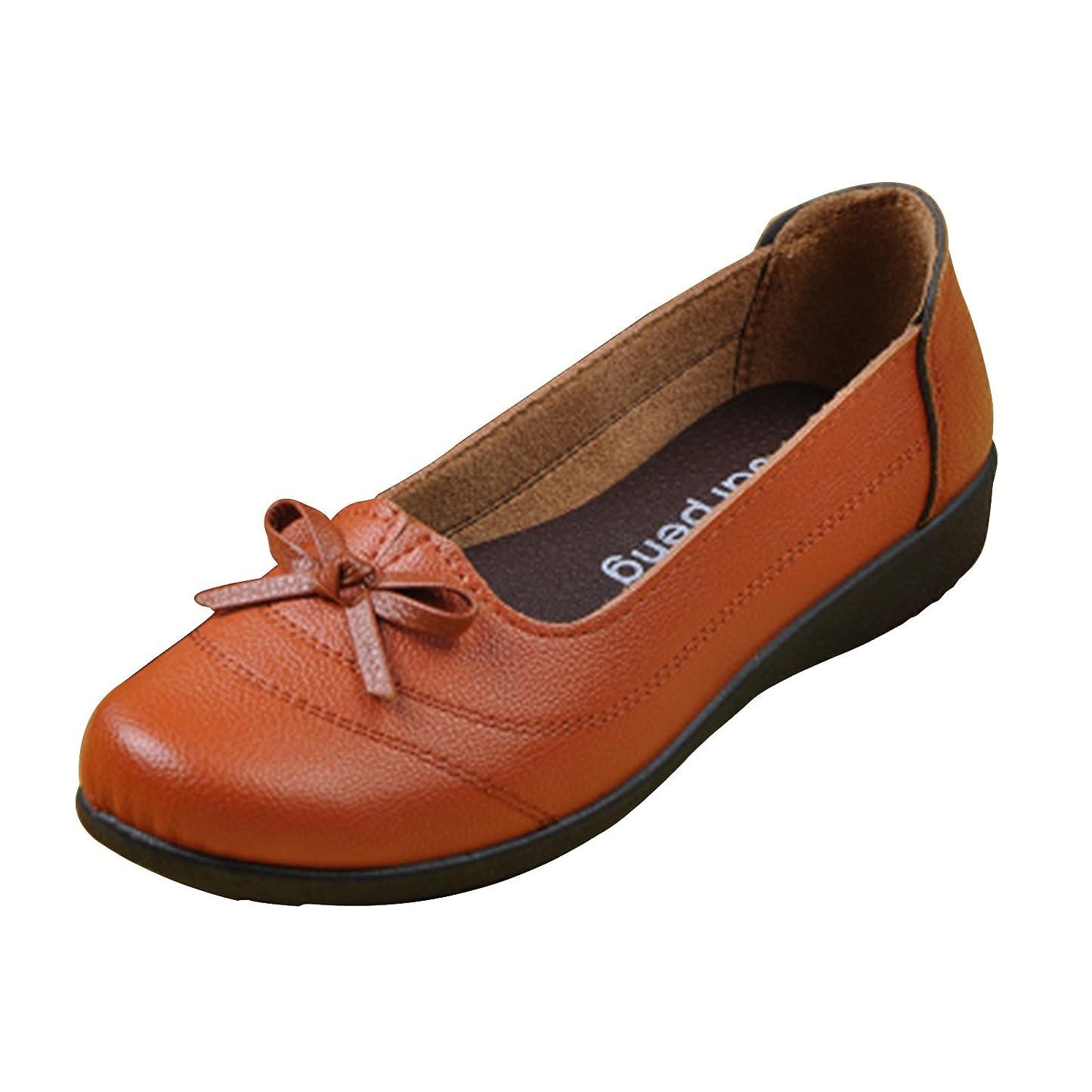行商人偽バット高級 革靴 レディース パンプス 2色 ビジネス フラット レザー