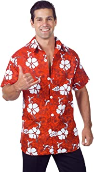 Horror-Shop Camisa Hawaiana Rojo : Amazon.es: Ropa