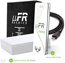 uFR Nano RFID NFC Tag and Card Reader Writer - 13,56 MHz Mifare Classic 1K and 4K, Ultralight, NTAG and NFC Compliant Card Programmer Linux / Windows + Free Software SDK + 5 Cards