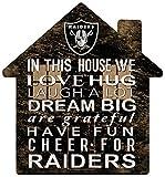Fan Creations NFL Las Vegas Raiders Unisex Oakland Raiders House Sign, Team Color, 12 inch (N0880-OAK)