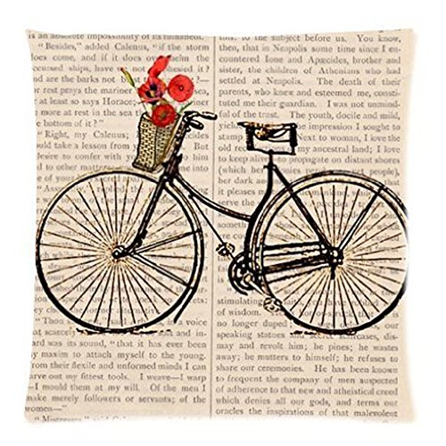 Bath Bicycle Pattern Best Gifts Decorate Pillowcase Custom Pillowcase Soft Pillow Case Zippered Pillow Case Cover in Roomy Size 16x16 (Two sides) Fashion Design