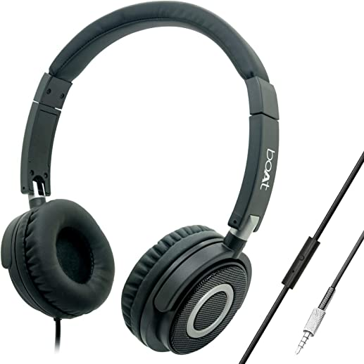 boAt Bassheads 900 On Ear Wired Headphones(Carbon Black)
