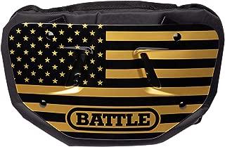 Battle American Flag Chrome Football Back Plate - Gold/Black