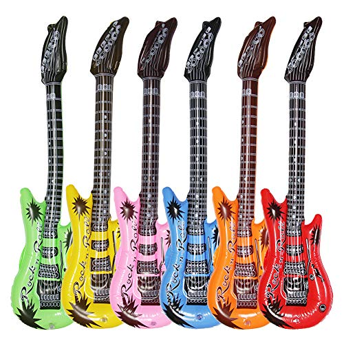 Find Cheap Dr.dudu Inflatable Guitar, Waterproof Assorted Colors Party Decoration (6pack)