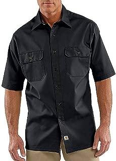 Men's Twill Short Sleeve Work Shirt Button Front